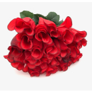 20 x Rose in Rot mit dunklem Rand 25,5 cm