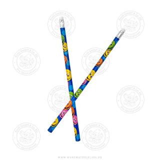 12 x Bleistift Lachendes Gesicht