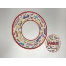 "100 x Frisbee+ Bierdeckel ""Alaaf"""