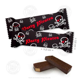 "60 x Waffelschnitte 10g ""Party Pirates"""
