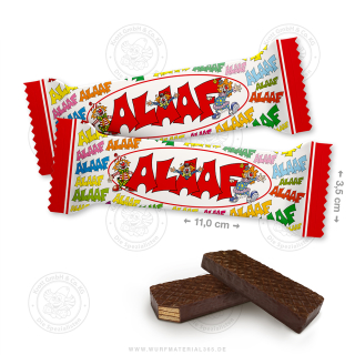 "60 x Waffelschnitte 10g ""Alaaf"""
