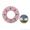 "100 x Frisbee+ Bierdeckel ""Clownfrau Schnucki"""