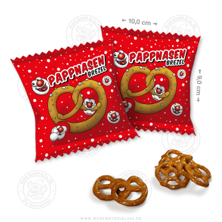 "35 x Brezel-Snack 15g ""Pappnasen"""