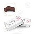 """200 x Choco-Täfelchen 5g """"Danke, Herz"""""""
