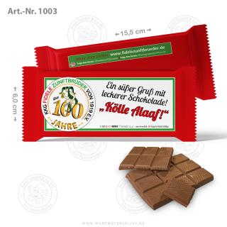 4620 x Schokolade Vollmilch 40g mit Logodruck