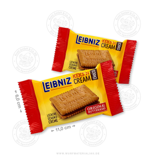 "100 x Leibniz Keks & Cream ""Choco"" x 19g"