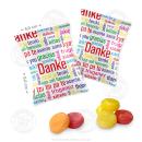 100 x Danke Bonbons im  Flachbeutel á 10g