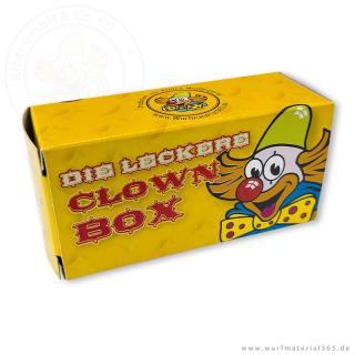 "50 x kleine Box ""leckere Clown-Box"" zum selbst Befüllen"